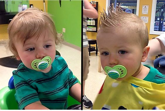 From curly wisps to a cool fauxhawk Boys First Haircut at Junior Cuts kids hair salon in