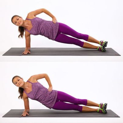 Exercises to Tone Muffin Top: Side Plank Variations | POPSUGAR Fitness: