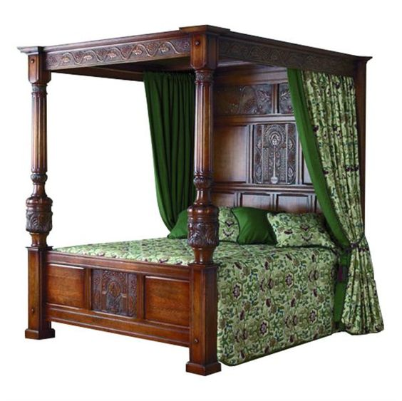 Italian four-poster bed