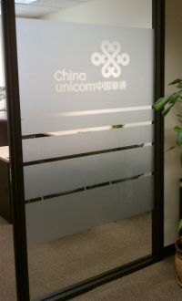 etched frosted glass vinyl on office glass wall | SVG ...
