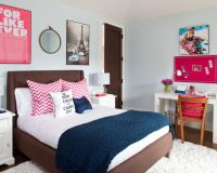 Modern Bedroom Ideas For Teenage Girls With White Desk ...