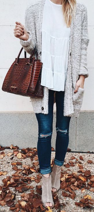 These open toe booties are cute fall booties outfits!