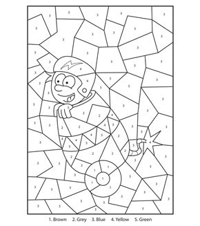Free Printable Circus Boy Colour By Numbers Activity For