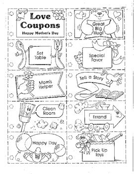 This coupon book is a very special gift to give to mom