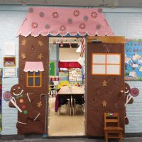 Gingerbread house I made for Christmas Door Decorating in ...