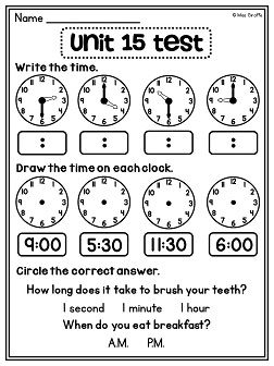 Activities, Assessment and Telling time on Pinterest