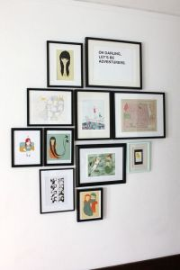 Some rules and hints for hanging art groupings on the wall ...