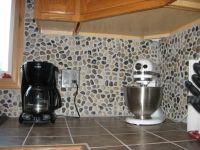 river rock kitchen backsplash | River Rock Kitchen, We put ...