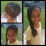 cornrow and perm rods curl