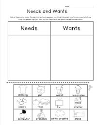 Needs Vs Wants Worksheets. Worksheets. Releaseboard Free ...