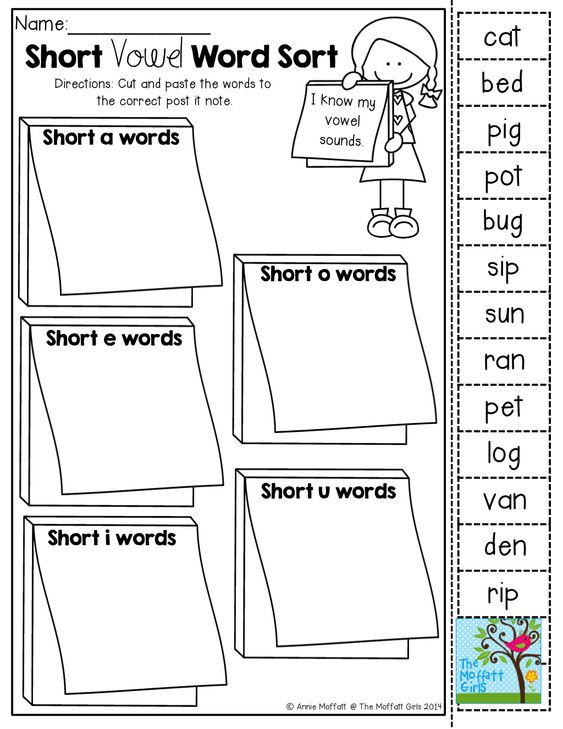 Short vowel word sort (cut and paste)! TONS of Back to