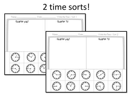 Math stations, Telling time and Card boards on Pinterest