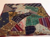 Vintage Crazy Quilt Table Runner, Made from Men's Ties ...