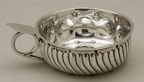 A Late Victorian Hallmarked Silver Tastevin: