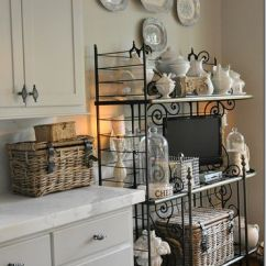 Bakers Racks For Kitchens Resurfacing Kitchen Cabinets Add A Baker's Rack Or Utility Cart To Dead Space In ...