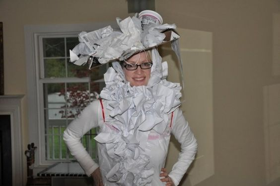 """Recycled Halloween Costume: """"White Trash"""""""