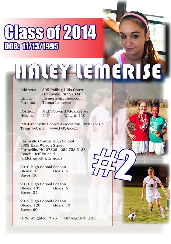 Soccer Resume Sports Resumes Recruiting Flyers