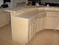 construction detail 2-tier Kitchen Island with electrical ...
