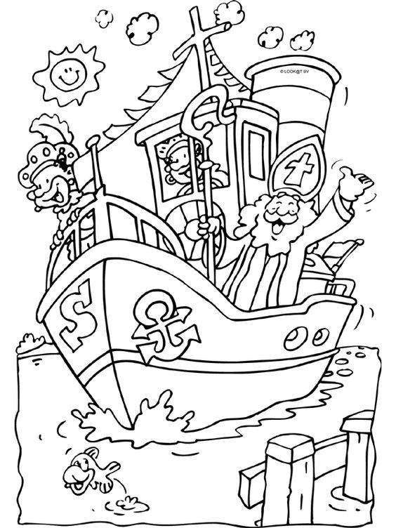 Stoomboot Van Sinterklaas Knutselpagina Nl