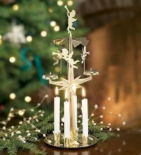 Spinning Angel Chimes Candle Holders With Four White ...