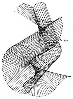 Best ideas about Parabolic Line Drawing, Parabolic Lines