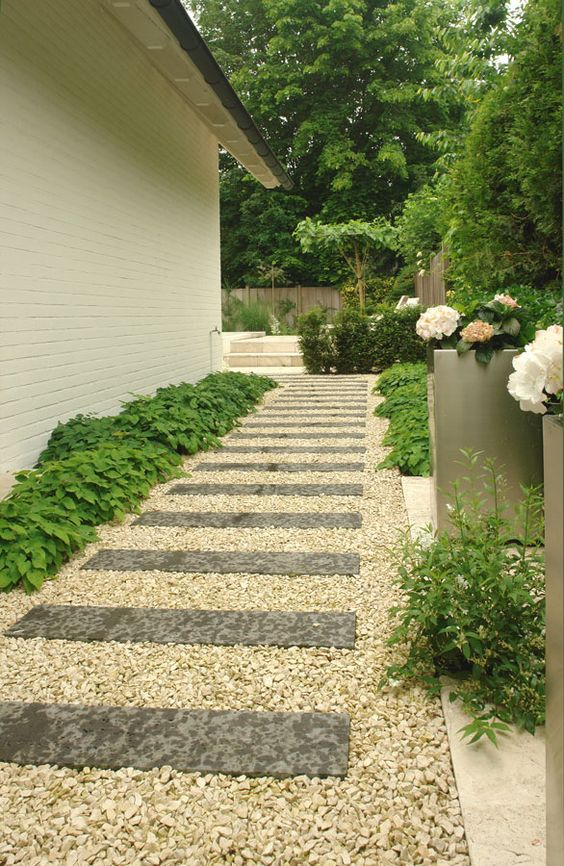 gardens walkways and paving slabs