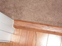 Where to place carpet to wood transition strip | Home ...