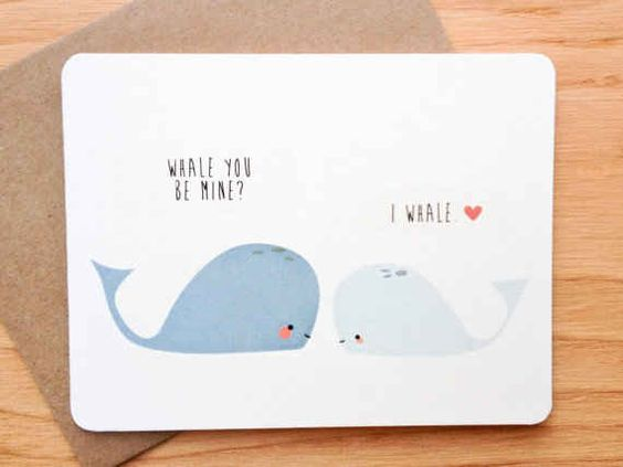 Sea creatures. | 30 Punny Valentines For Everyone You Love: