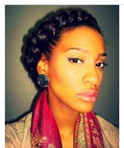 beautiful goddess braid. natural