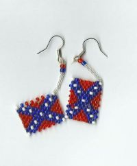 Confederate Battle Flag Earrings I have made these ...