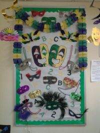 ABC 123 Mardi Gras bulletin board. | Locs | Pinterest ...