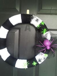 My beetlejuice inspired Halloween wreath. | Holiday ideas ...