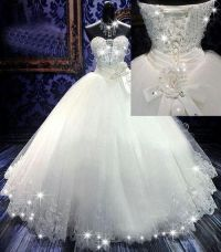 Princess dress with sparkle trimmings | Dream Wedding ...