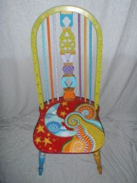 funky painted dining chairs | Moon and Stars Chair ...