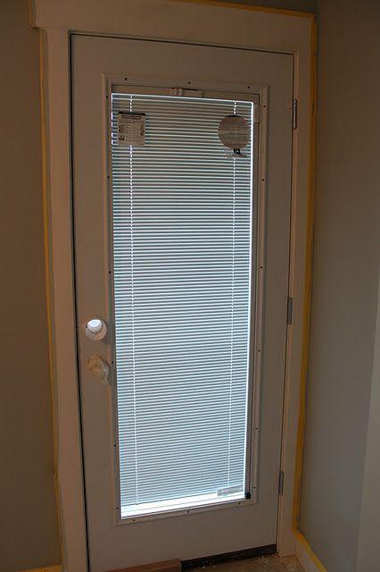 """Door with built in blinds. """"Jeldwen"""" special ordered"""