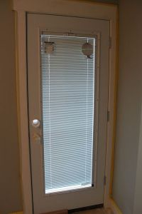 "Door with built in blinds. ""Jeldwen"" special ordered"