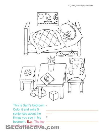 Worksheets, Bedrooms and Coloring pages on Pinterest
