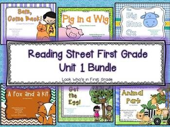 Reading Street 2013 First Grade Unit 1 Bundle Reading