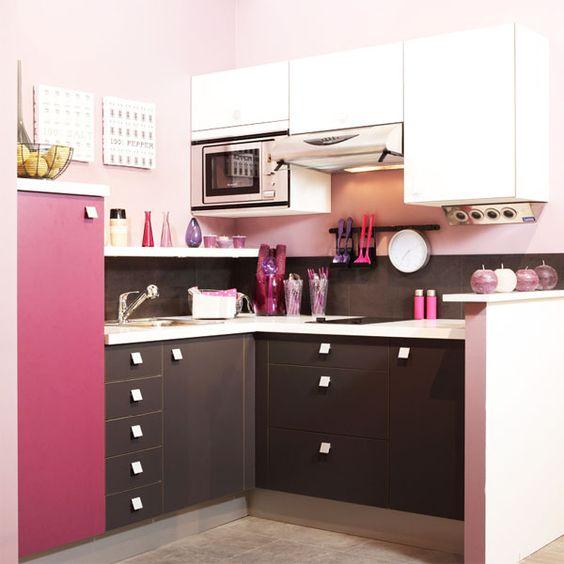 Cuisine Rose Cadiou Home And Deco Pinterest Rosa Cucina E Rose