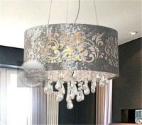 Ceiling chandelier, Pendant light fixtures and Drum shade ...