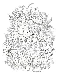 Zero Fucks Given - Swear Words Coloring Page from the ...