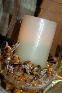 Centerpiece ideas, Large pillar candles and Centerpieces ...