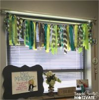 Classroom, Curtains and Window on Pinterest