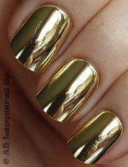 gold chrome nails nail inspiration
