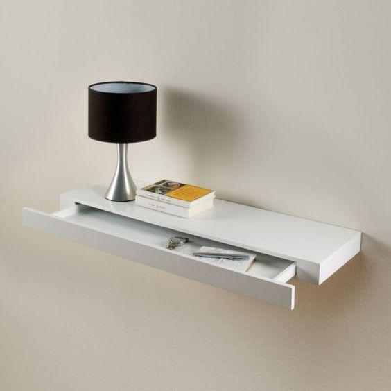 Details about Floating Drawer Shelf Concealed Storage
