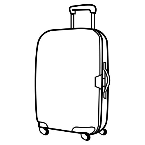 Travel- FIAR Suitcase with wheels, free colouring pages