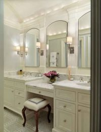 bathroom vanity with makeup area - Google Search ...