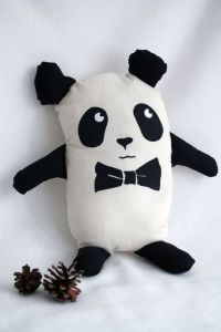 Geek Chic Panda Plush Toy with Bow Tie | SOFTIES ...