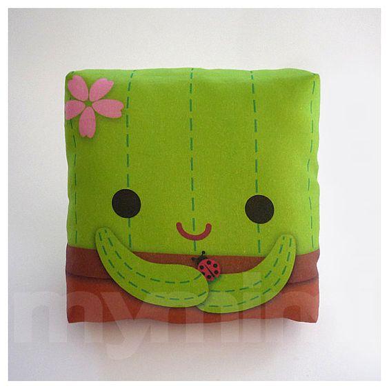 Decorative Pillow, Cactus Pillow, Throw Pillow, Green