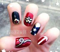 Wonder Woman Nail Art @Luuux | Nails | Pinterest | Wander ...